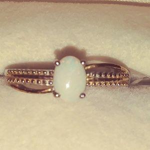Australian White Opal Ring